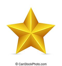 Yellow Star - Glossy Yellow Star