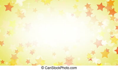 yellow stars frame loop background