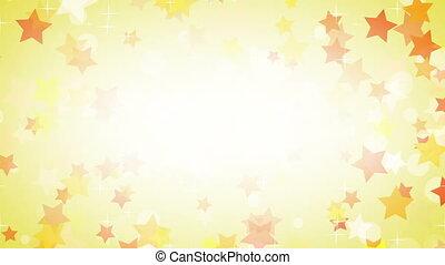 yellow stars frame loop background