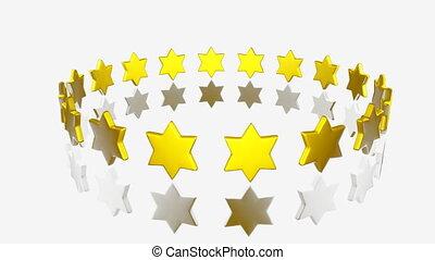 Yellow Stars turning