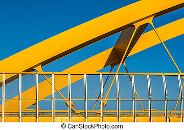 Yellow steel, blue sky
