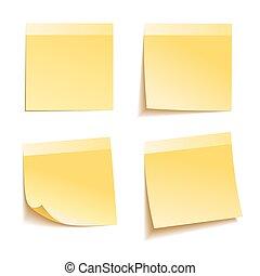 Yellow stick note