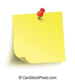 Yellow Stick Red Pin