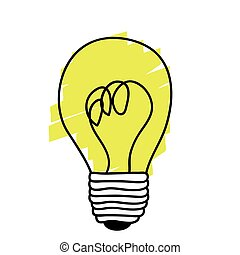 yellow sticker paint bulb icon
