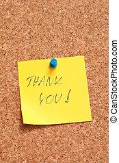 yellow sticker - thank you