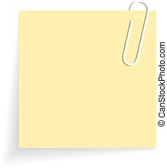 Yellow sticker - Yellow blank sticker on white background