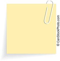 Yellow sticker - Yellow blank sticker on white background