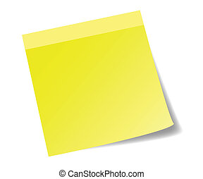 Yellow sticknote paper