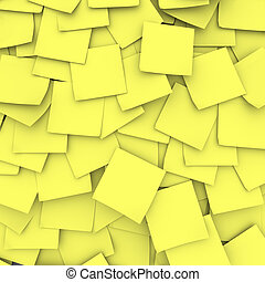 Yellow Sticky Note Background - Many yellow sticky notes...