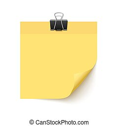 Yellow Sticky note paper