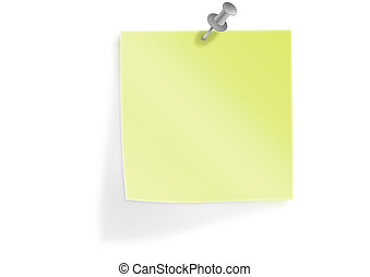 Yellow Sticky Note, Post it