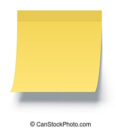 Yellow Sticky Note with Shadow