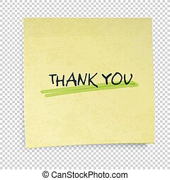 Yellow sticky notes with Thank You Message