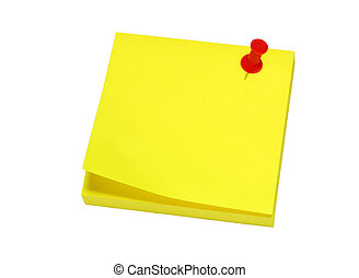 Yellow sticky for reminders on a white background