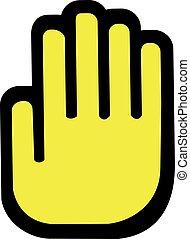 Yellow stop hand