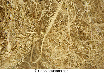 yellow straw texture closeup on a hot summer day