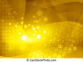 yellow Streams of light abstract Cool waves background