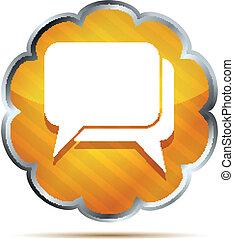 yellow striped dialog icon