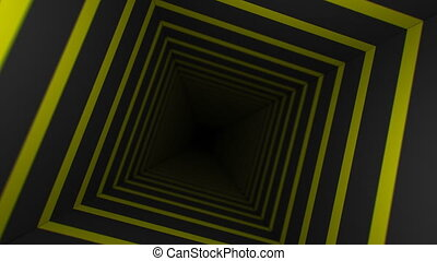 Yellow Striped Infinity Box (60fps) - Abstract background...