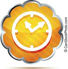 yellow striped shiny watch icon