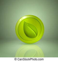 Yellow style leaf. Icon for app or web design