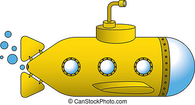 Yellow Submarine - A yellow submarine vector illustration,...