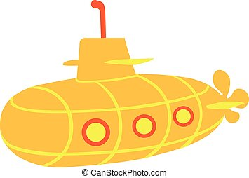 Yellow Submarine - cartoon style