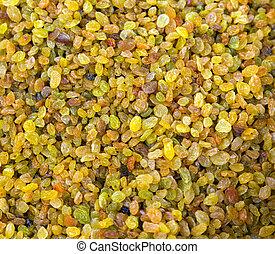 raisins close-up background
