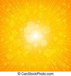 Yellow Summer Background. Vector Illustration
