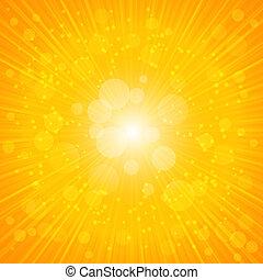 Yellow Summer Background. Vector Illustration