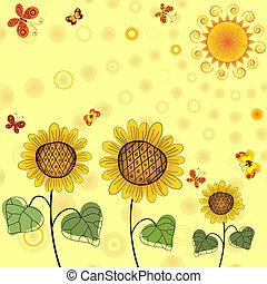 Yellow summer background