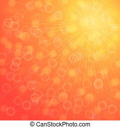 Yellow summer sun light burst.vector