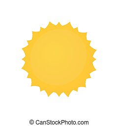 Yellow sun badge design illustration on white background