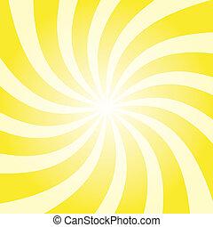 Yellow Sun Burst - Funky abstract yellow background ...