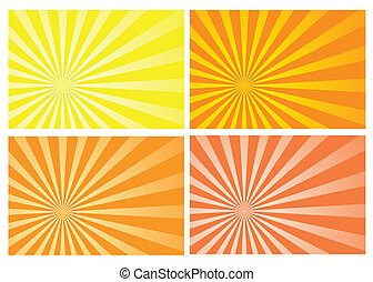 yellow and orange burst rays background, eps10 format, preserve transparency and opacity mask for easy color changing, position of the burst and fading effects. A clipping mask is used.