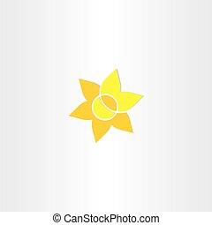 yellow sun flower icon design
