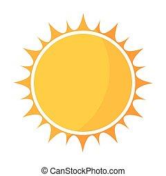 Yellow sun icon vector illustration