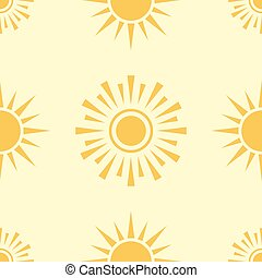 Yellow sun planet seamless pattern background star vector illustration