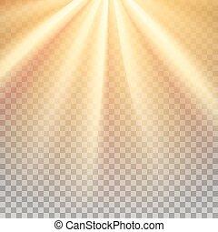 Yellow sun rays flare - Yellow sun rays. Warm orange flare....