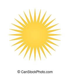 yellow sun shape - yellow sun geometric shape. weather...