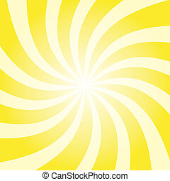 Yellow sun twist burst