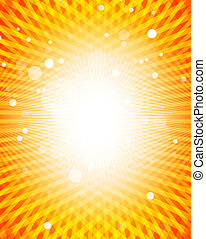 Yellow sun vector background