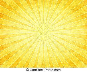 A bright yellow sunbeam pattern on vintage paper.