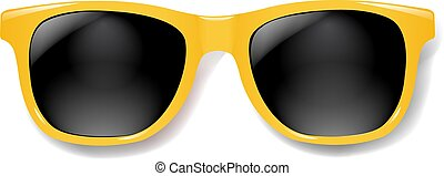Yellow Sunglasses With White background