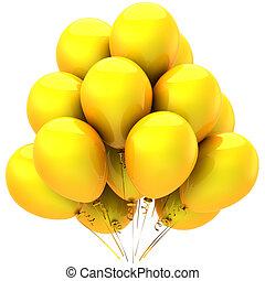 Yellow sunny balloons