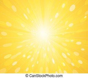 Yellow sunny rays background