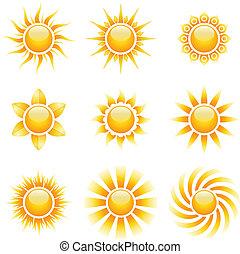 Yellow suns set