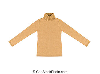 yellow sweater Isolated on white background