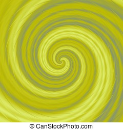 Yellow swirl - Abstract nice crazy spiral in yellow color