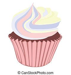 Yellow Swirl Cream Cupcakes